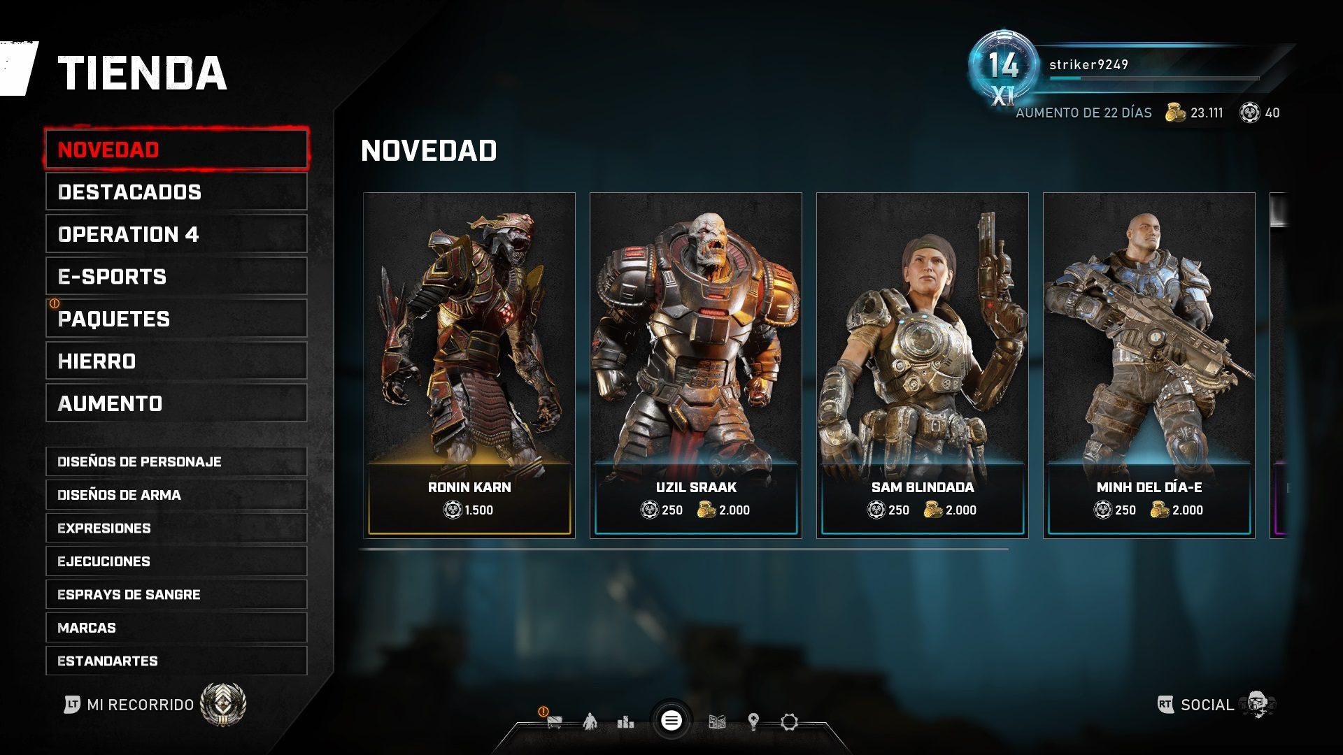 """Los últimos personajes de la """"Operación 4"""" de Gears 5 ya están disponibles para todos"""