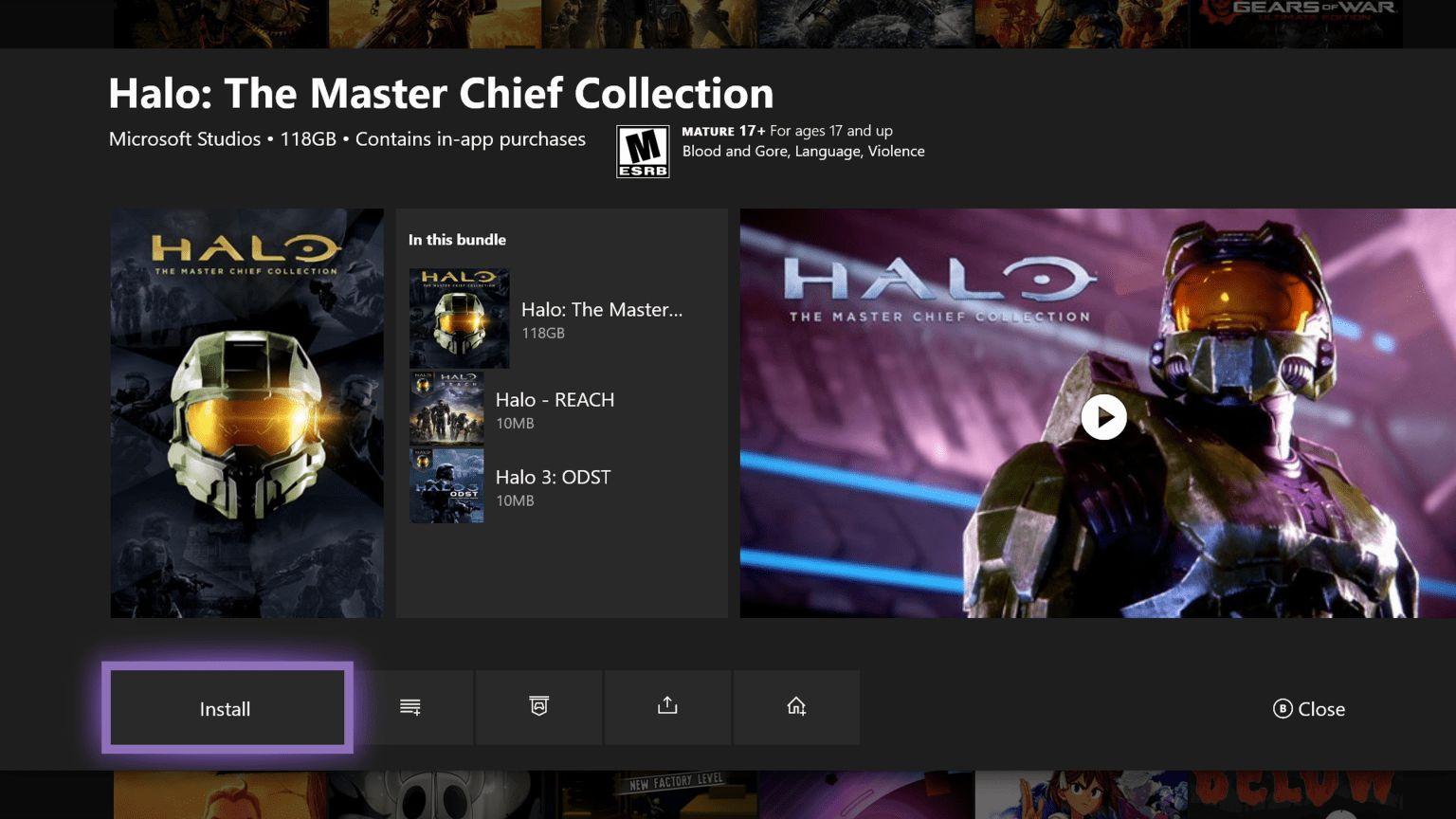 Halo MMC en la nueva tarjeta capturas de mis juegos y aplicaciones de la actualización de Insider de XBox One