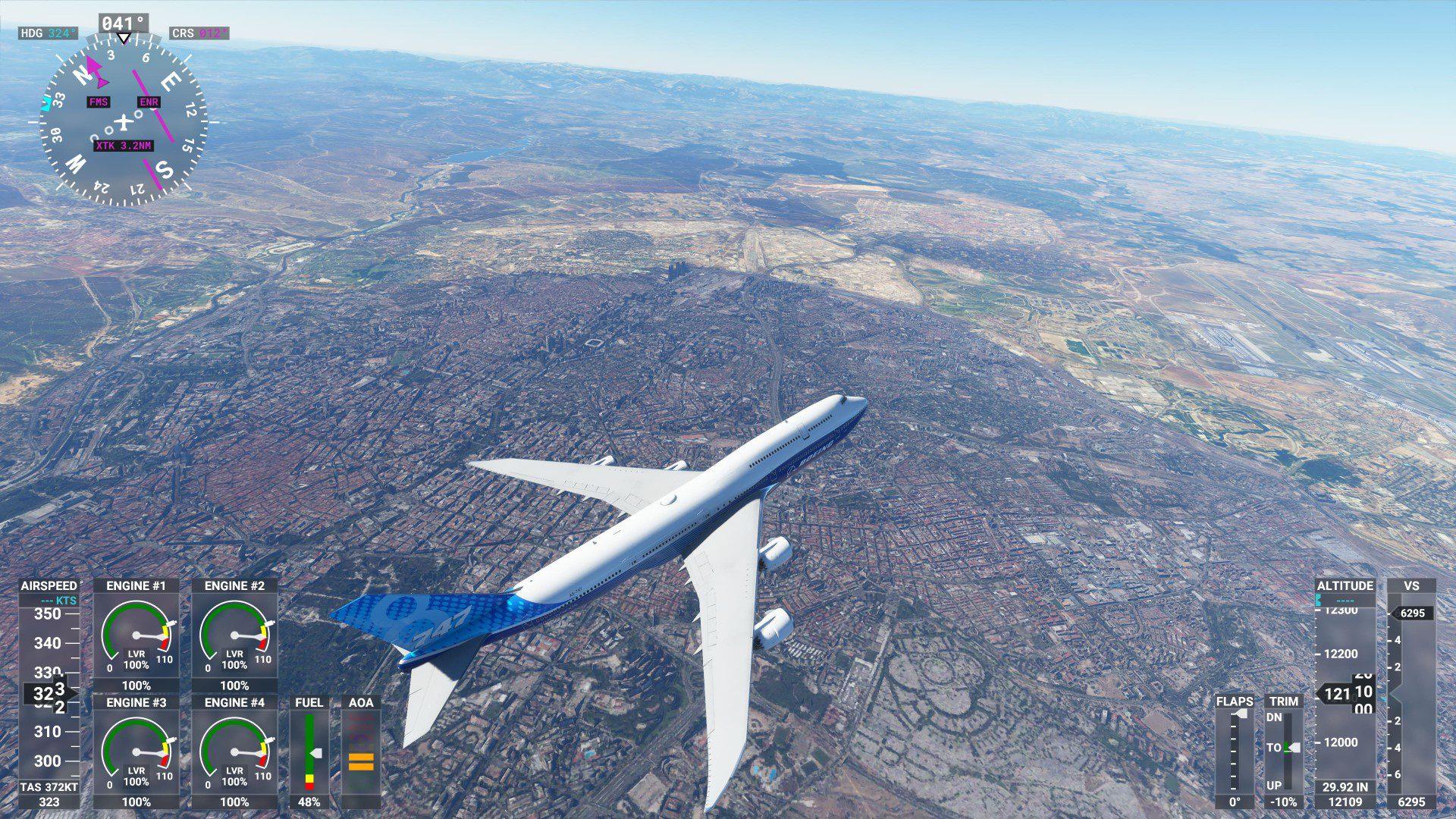 Madrid en Microsoft Flight Simulator