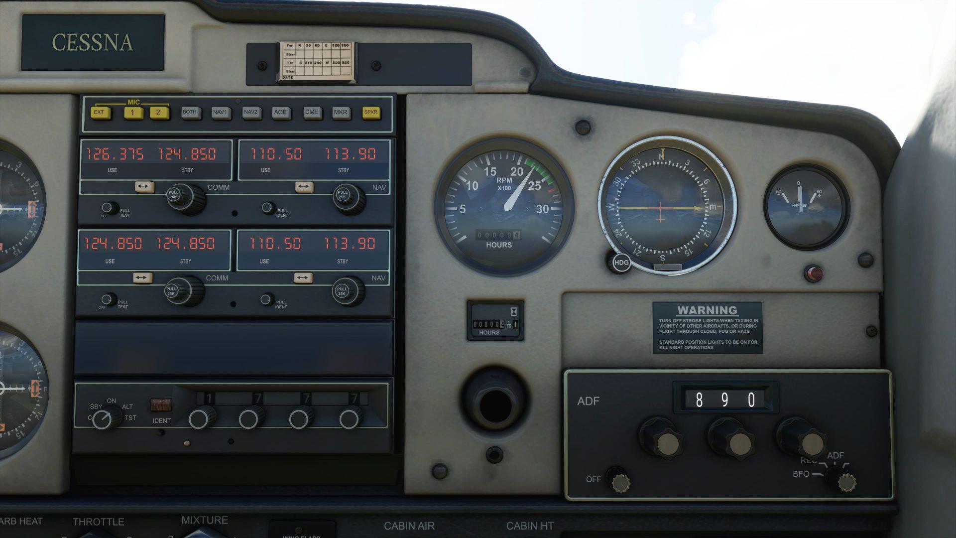 Mandos de un avion más cerca 2 Microsoft Fligth Simulator