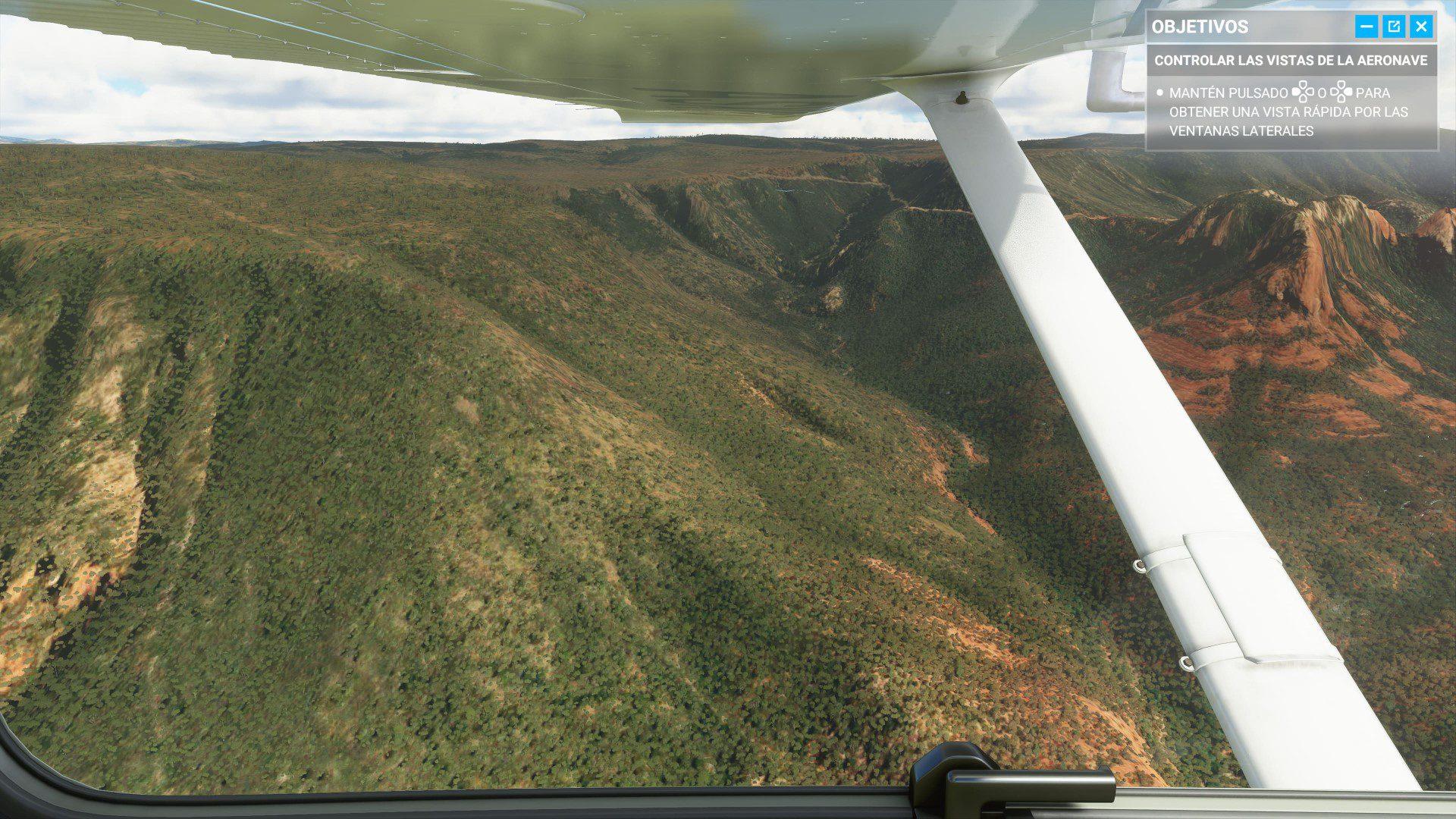 Paisaje tutorial 1 de Microsoft Flight Simulator