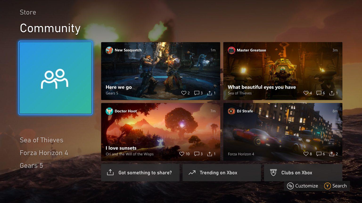 La actualización de agosto 2020 para Xbox One ya disponible para todos