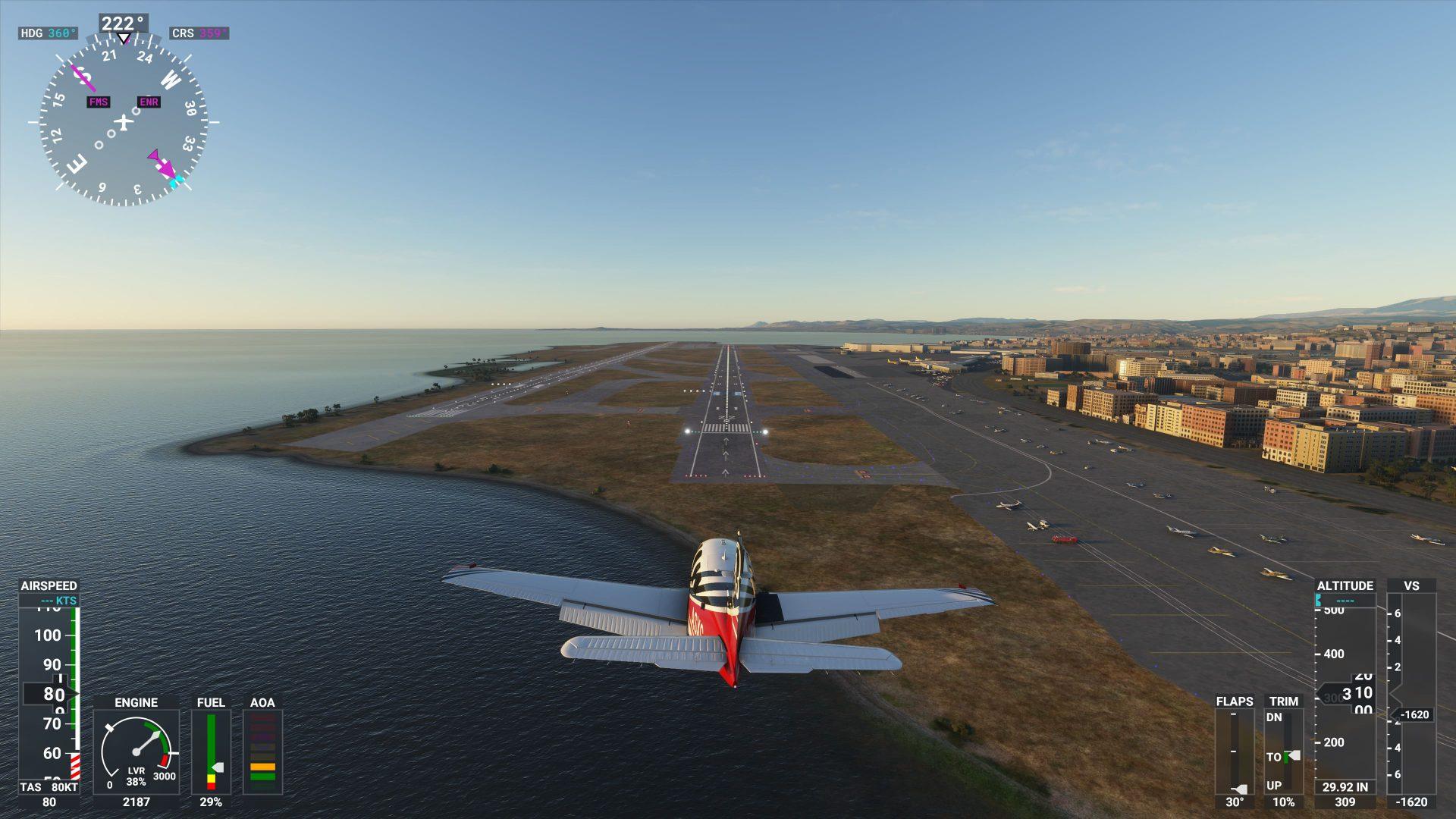 Pista de aterrizaje y aeropuerto de Microsoft Flight Simulator