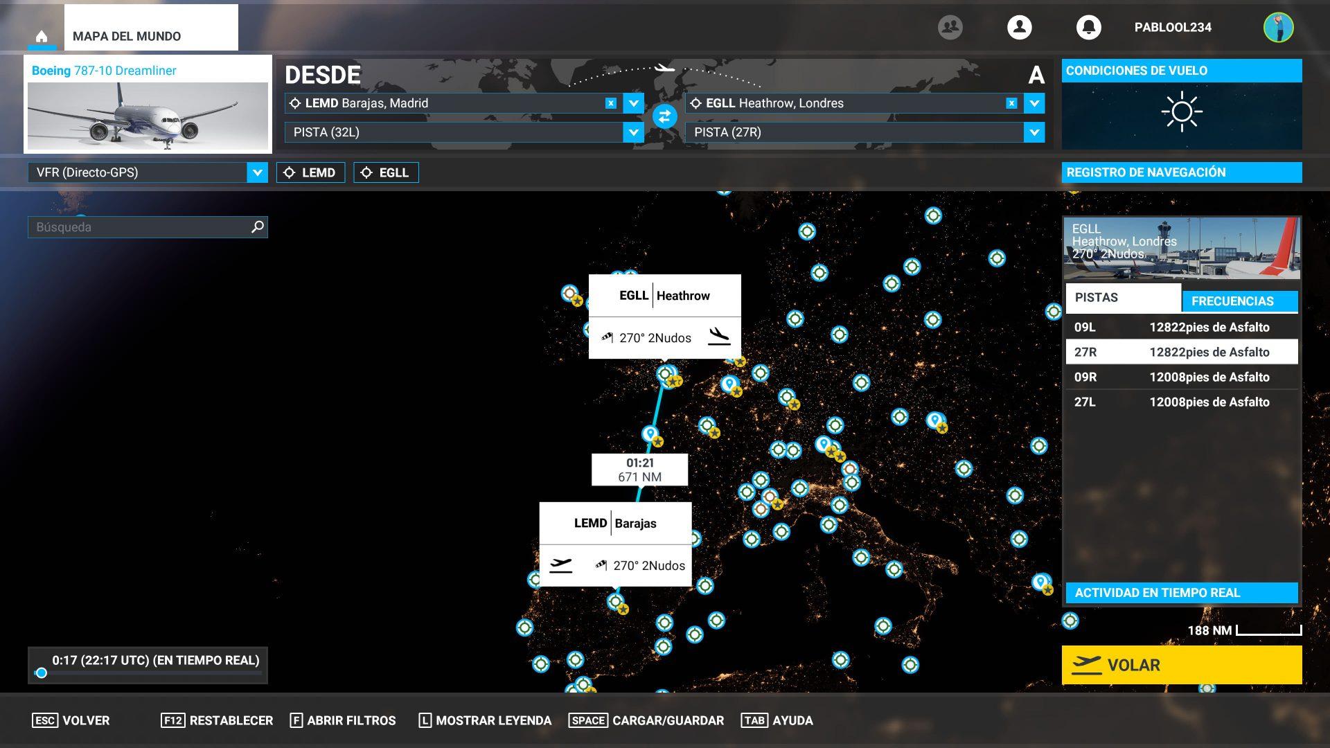 Resumen del vuelo libre de Microsoft Flight Simulator