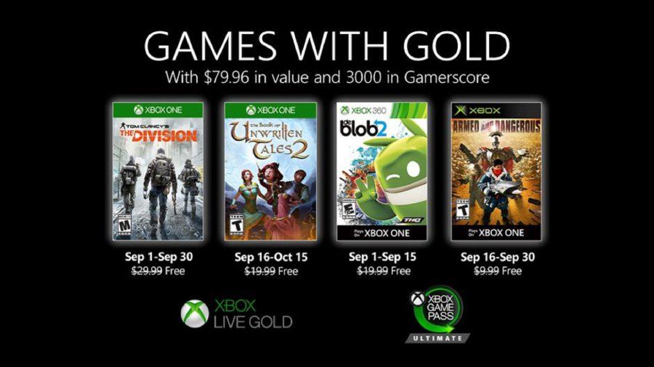 Ya disponible la primera tanda de los Juegos con Gold de septiembre