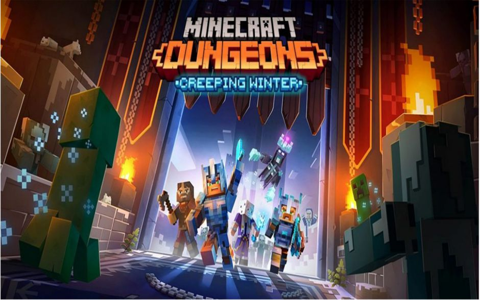 Minecraft Dungeons: el DLC Creeping Winter llega en septiembre