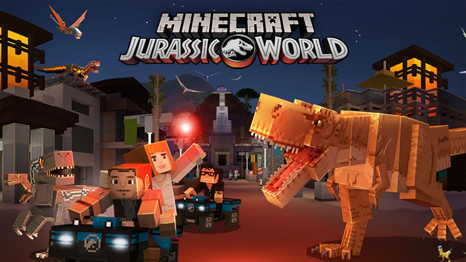 Ya disponible el DLC de Jurassic World para Minecraft