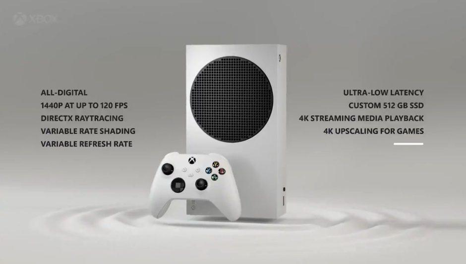 Reveladas las características de Xbox Series S: Ray Tracing, 120fps y SSD de 512Gb