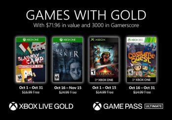 Ya disponibles para descargar los primeros Juegos con Gold de octubre