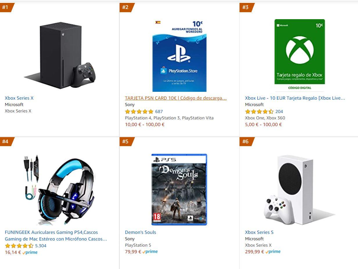 Xbox Series X es lo más vendido en videojuegos en Amazon.es