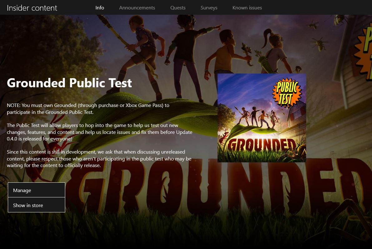 Grounded Public Test