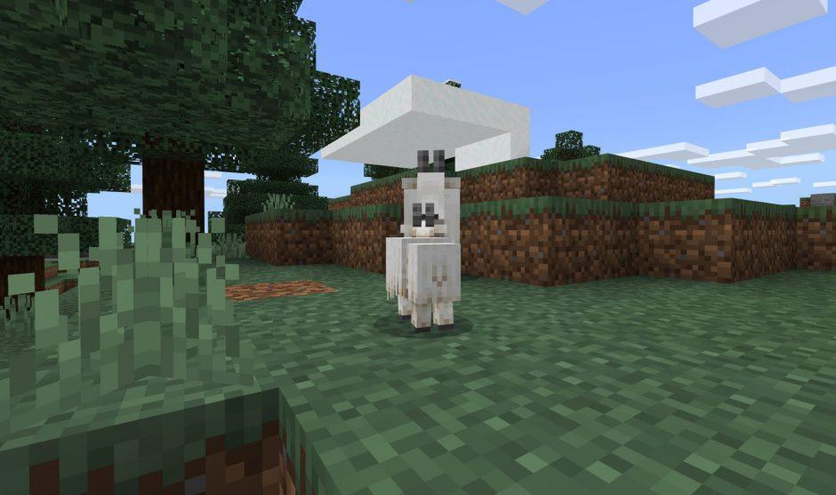 Minecraft recibe cabras y nieve de la Caves and Cliffs Update