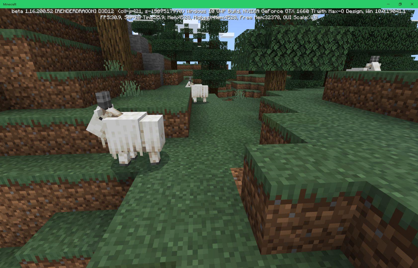 Cabras dentro de Minecraft actualización de cuevas y acantilados