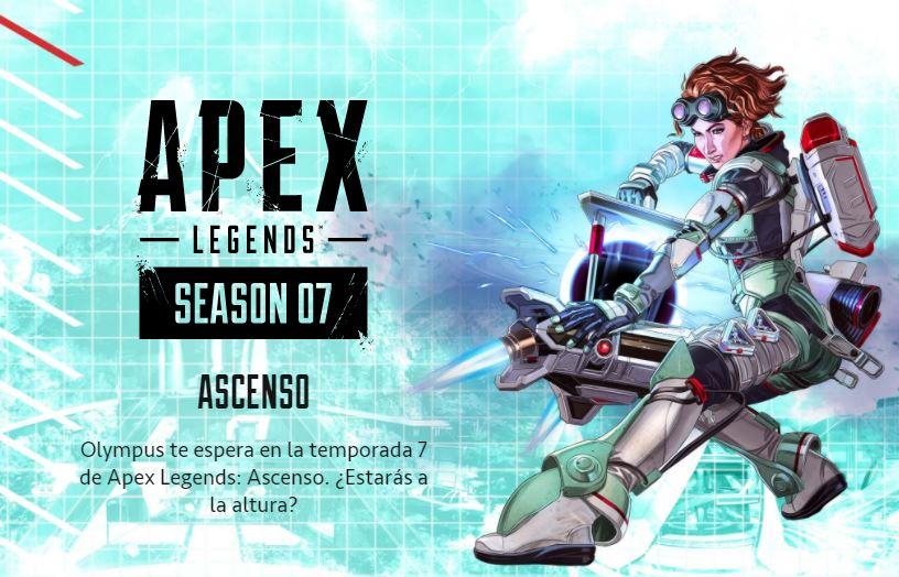 Enormes novedades en la temporada 7 de Apex Legends: Nuevo mapa, nueva leyenda y más