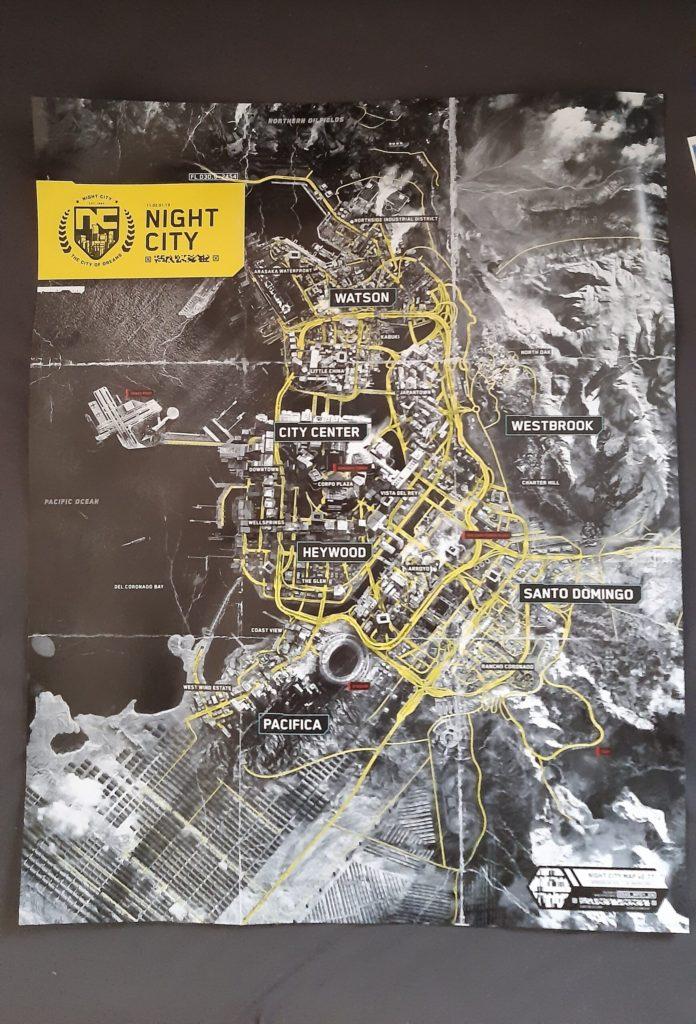 Se filtra el mapa completo de Cyberpunk 2077