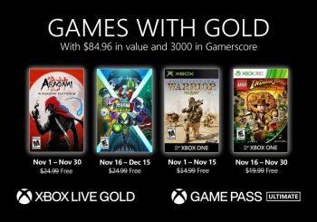 Ya disponible la segunda tanda de los Juegos con Gold de noviembre
