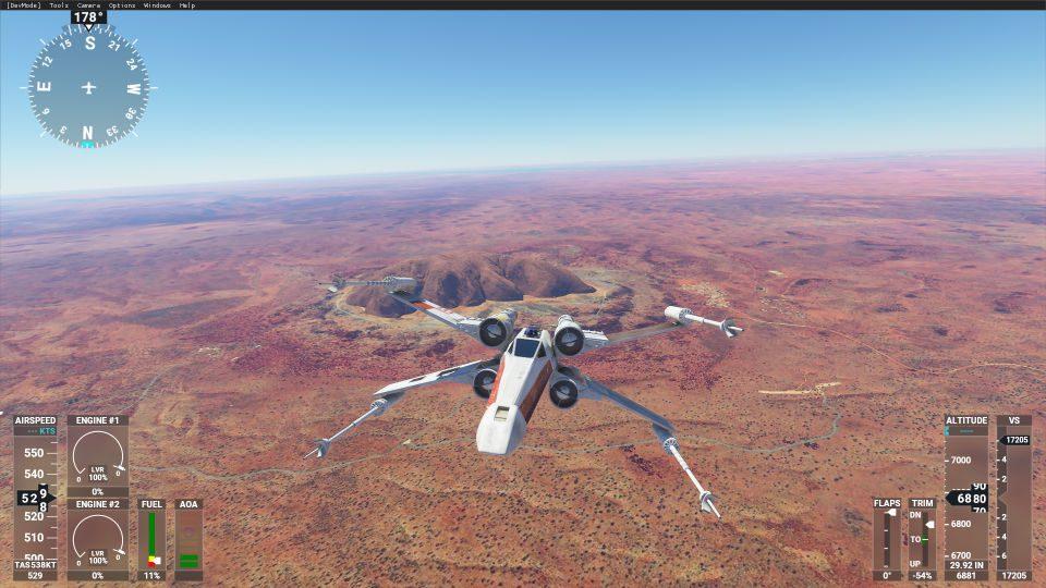 microsoft flight simulator - xwing- generacion xbox