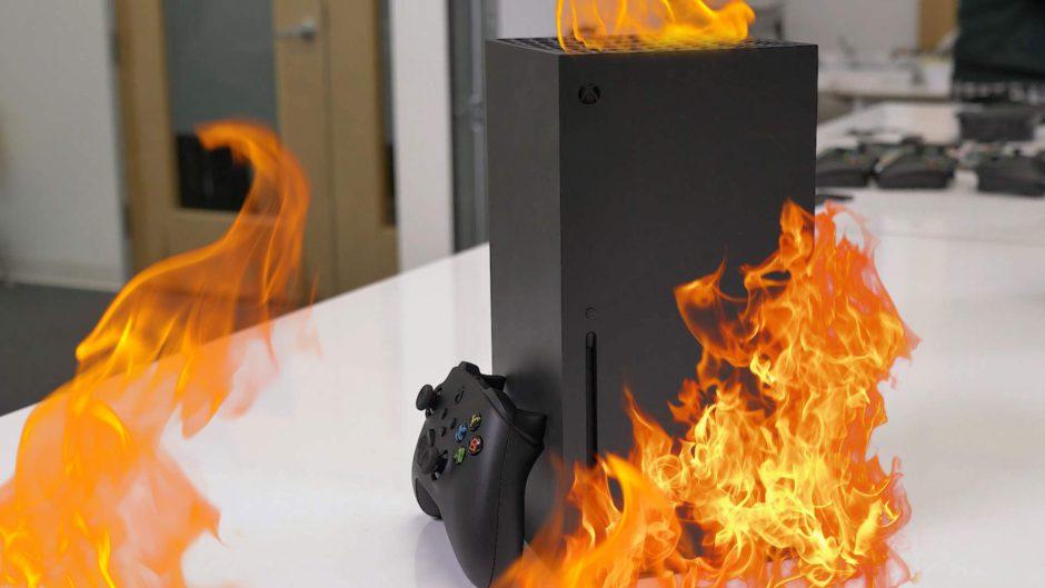 """El vídeo de la Xbox Series X """"ardiendo"""" es fake"""