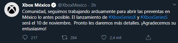 xbox México Tweet