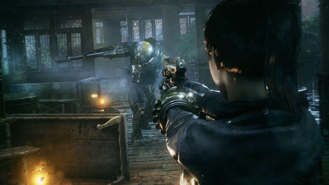 con habilidades especiales que permiten espectaculares combos que fusionan disparos y ataques melé, incluyendo espadas y otras armas y gadgets.
