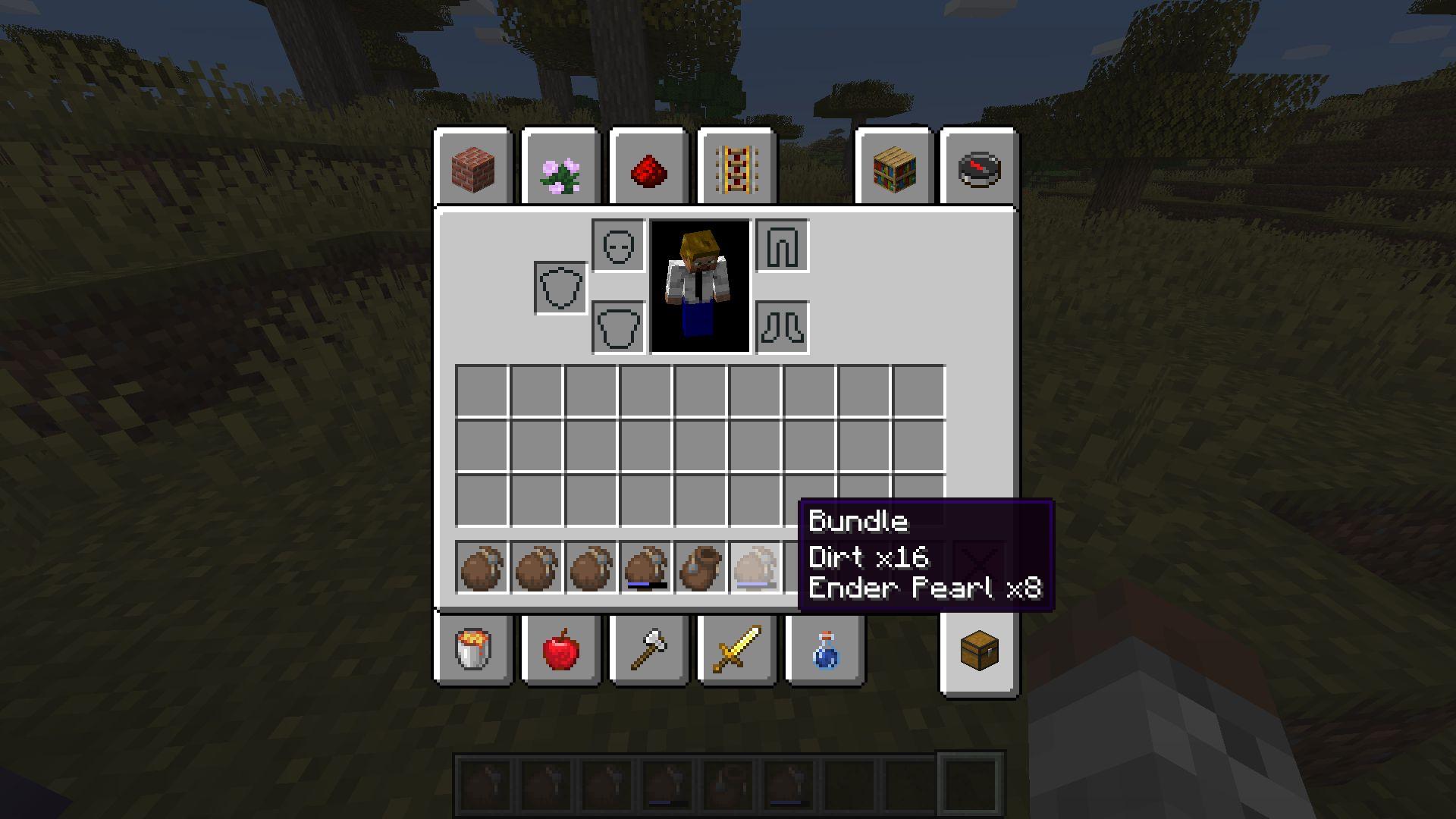 Bundle de Minecraft 1.17 en la Snapshot 20W45A