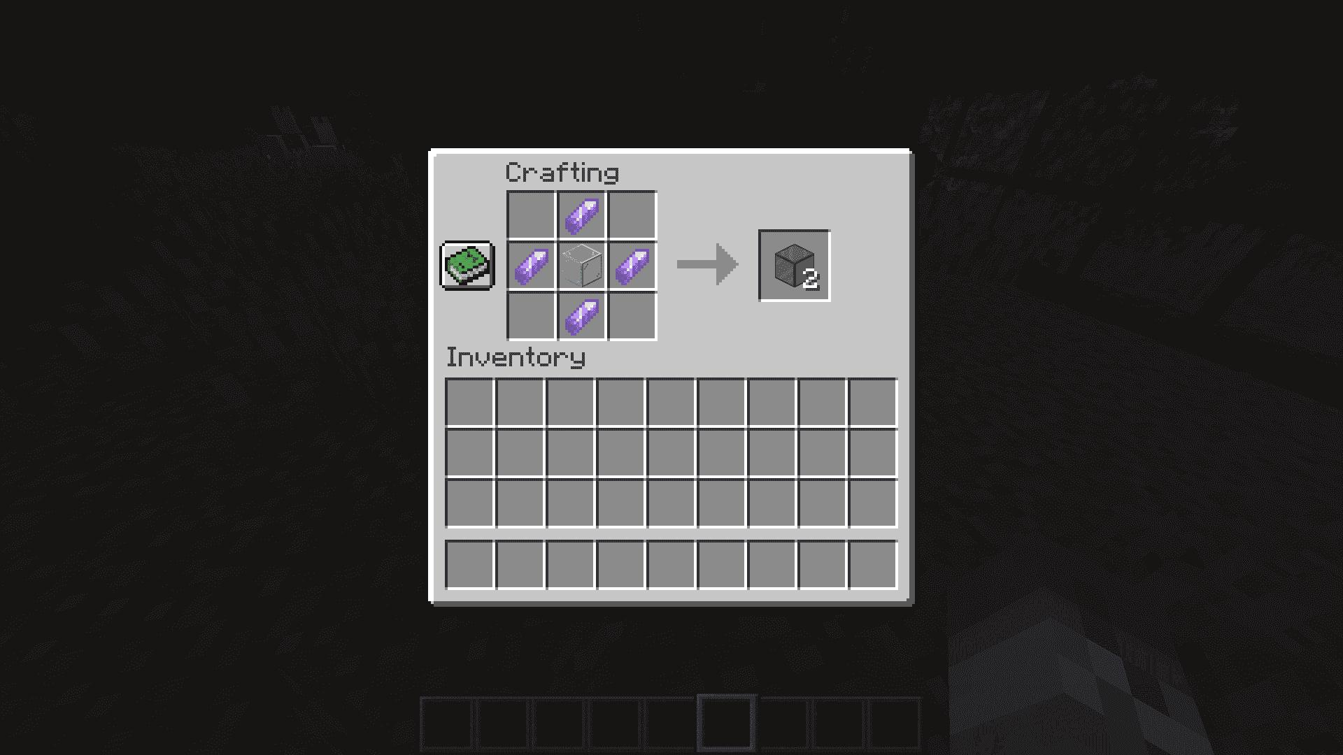 Craftear cristal tintado en Minecraft 1.17 con la Snapshot 20W45A