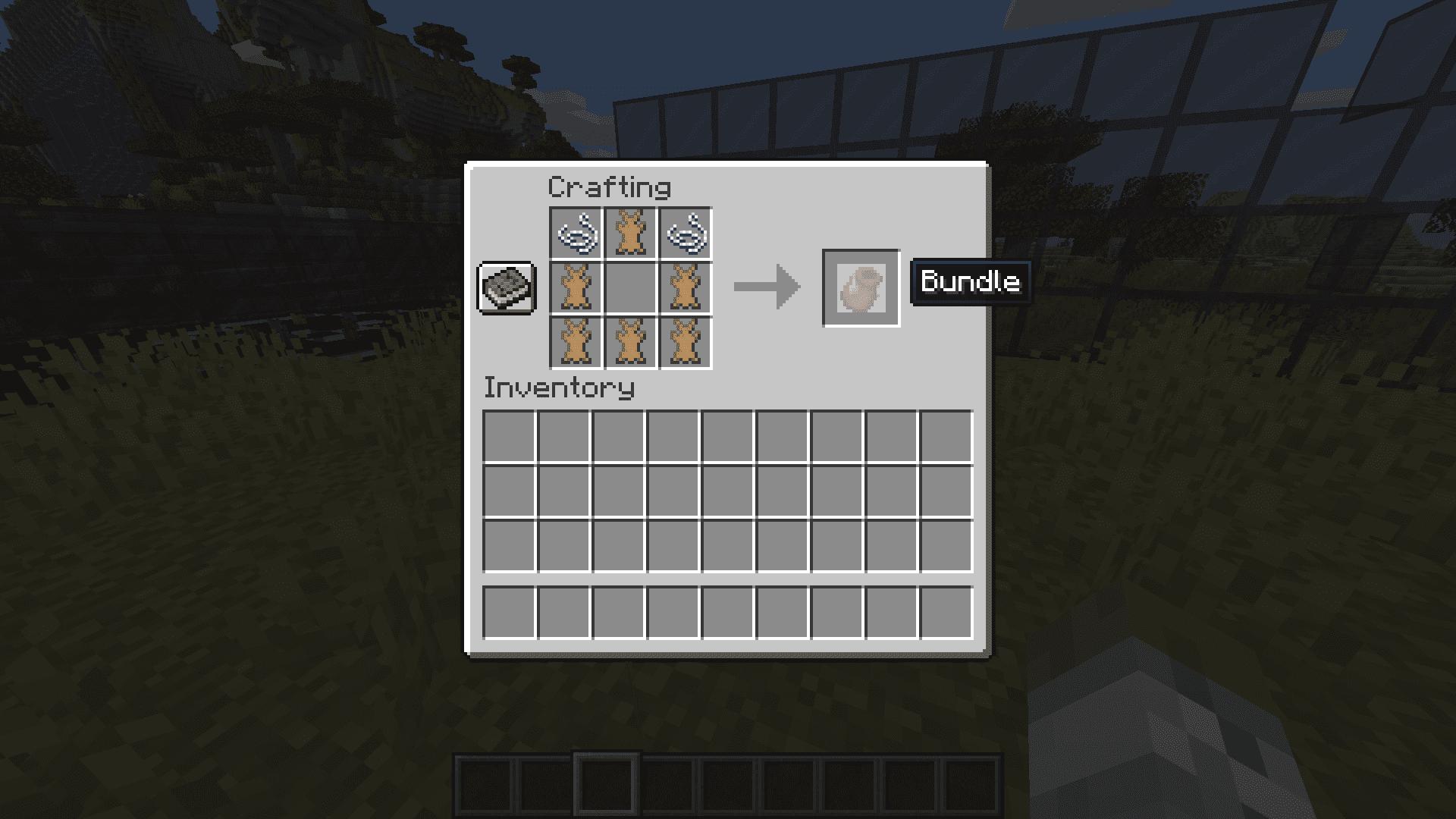 Craftear un bundle de Minecraft 1.17 en la Snapshot 20W45A