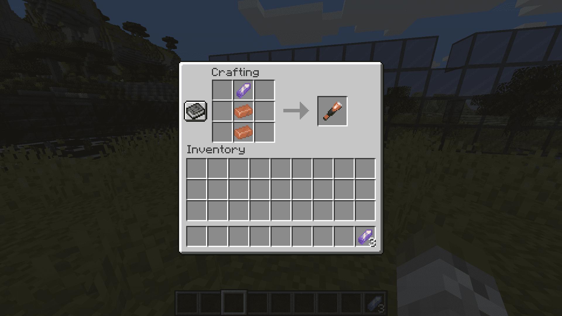 Crafteo de un catalejo en Minecraft 1.17 con la Snapshot 20W45A