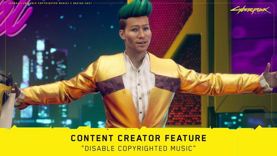 Cyberpunk 2077 tendrá una opción para desactivar la música con derechos de autor