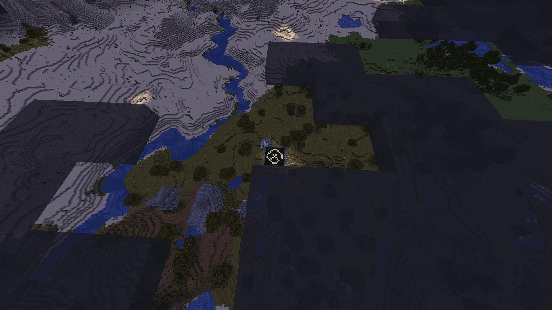 Distancia desde la que vemos con el catalejo en Minecraft 1.17 con la Snapshot 20W45A