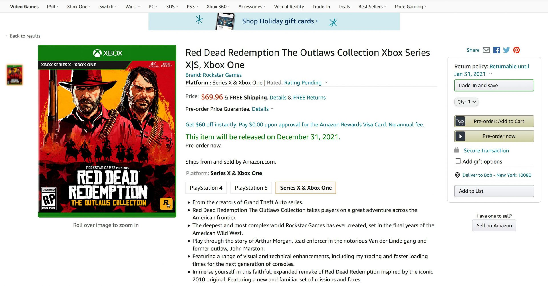 Red Dead Redemption The Outlaws Collection