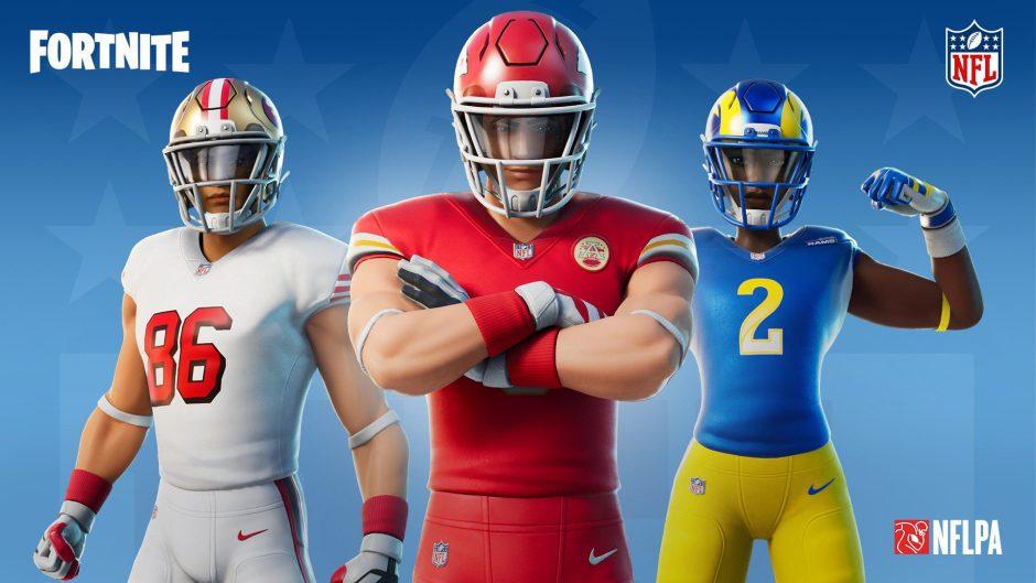 Los camisetas de los equipos de la NFL llegan a Fortnite