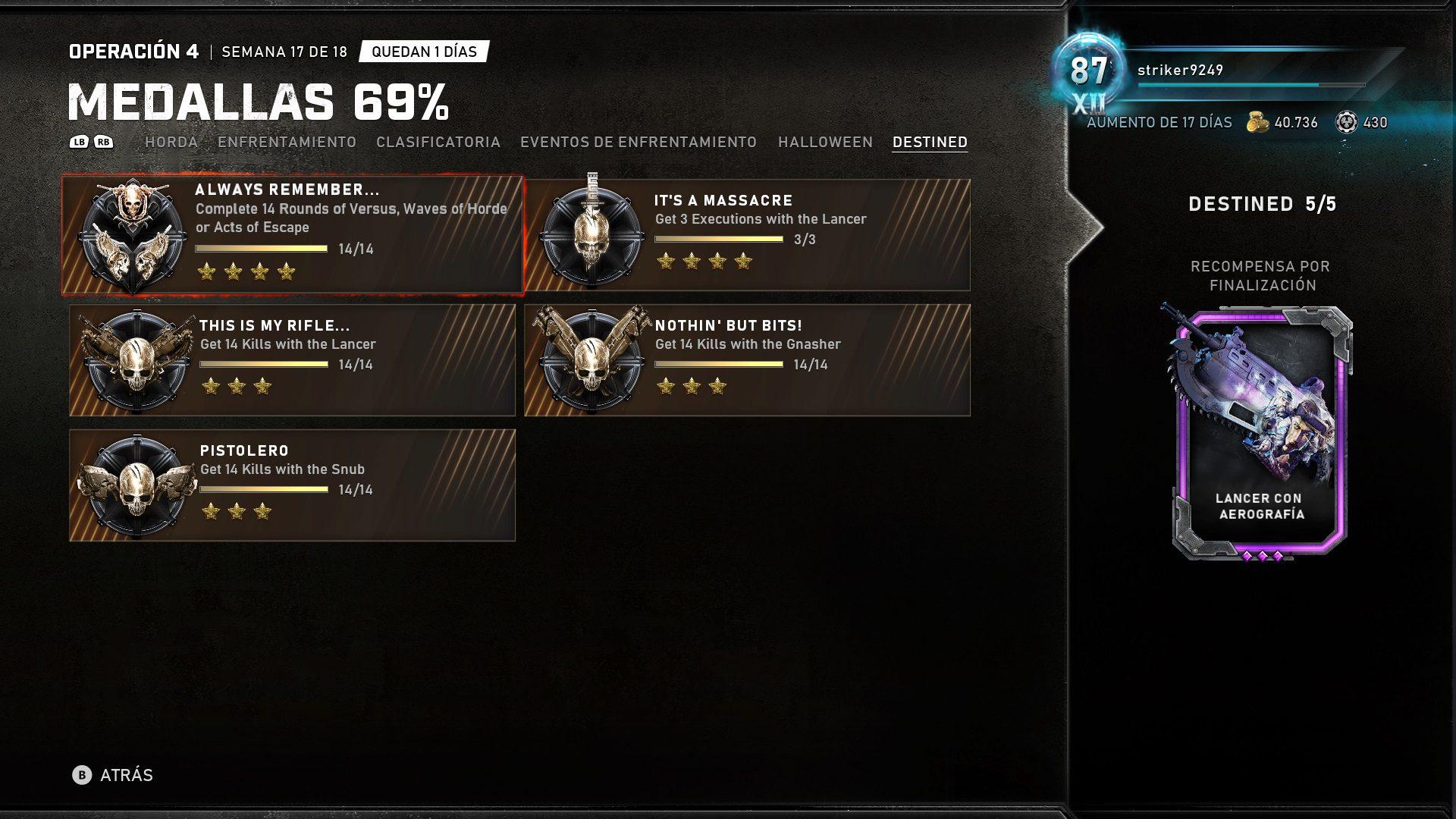 Consigue estas nuevas skins para las armas de Gears 5 por el 14 aniversario de la saga