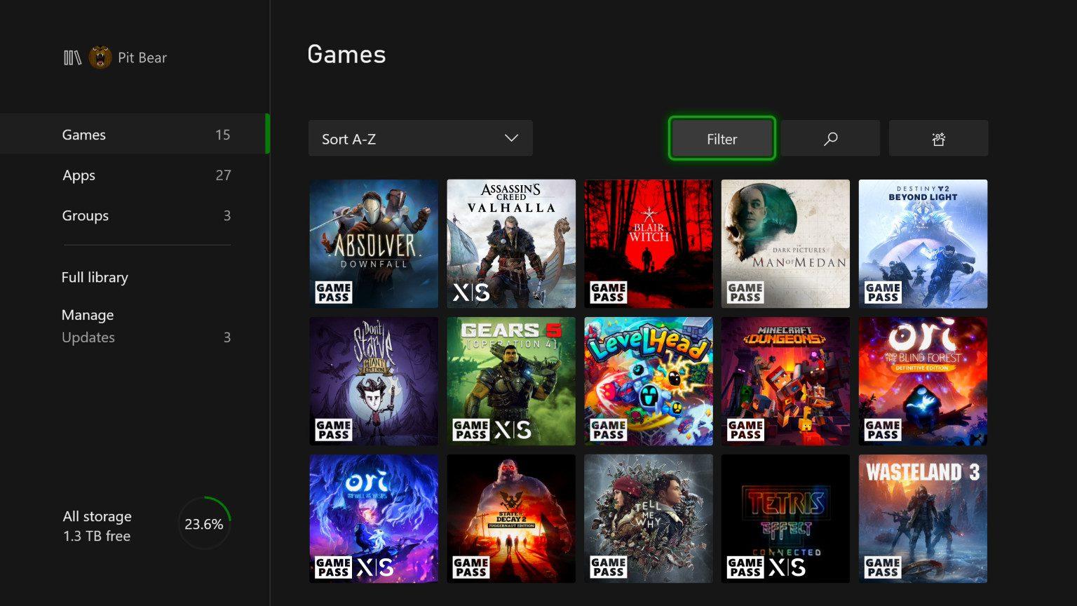 Optimizados para Xbox Series X en la libreria de la actualización de noviembre 2020