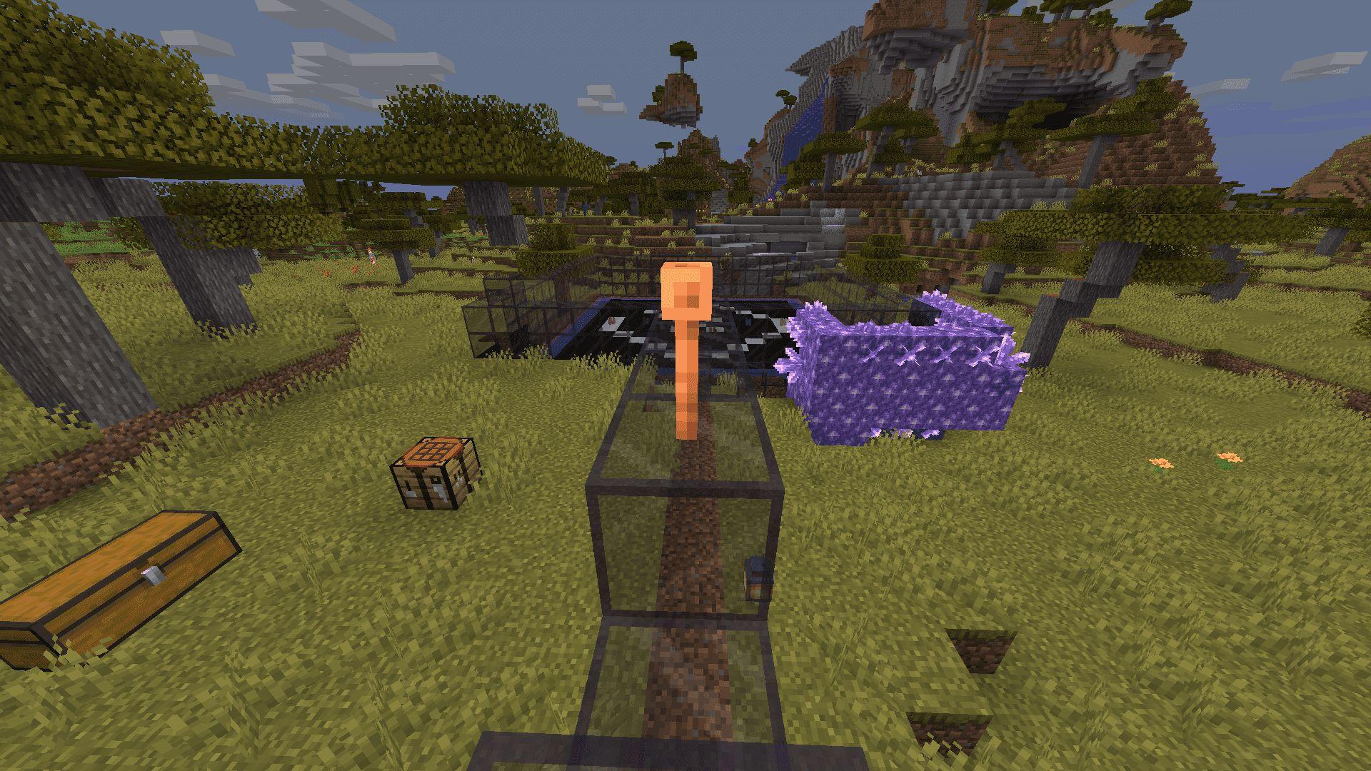 Pararrayos en Minecraft 1.17 con la Snapshot 20W45A