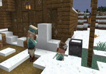 Minecraft Caves & Cliffs recibe nieve en polvo en Java con una Snapshot