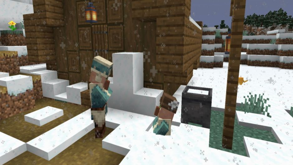 Minecraft Caves & Cliffs recibe nieve en polvo en Java con una Snapshot