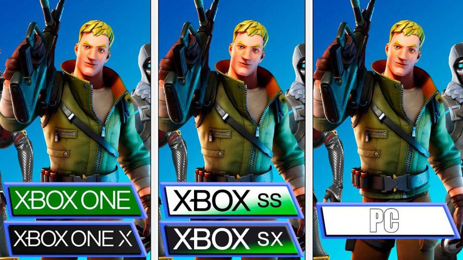 Así luce Fortnite en Xbox Series comparado con el resto de consolas Xbox
