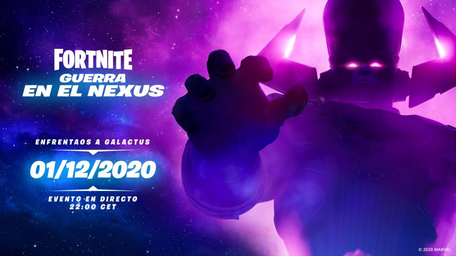 El Devorador de Mundos llegará a Fortnite el próximo 1 de diciembre