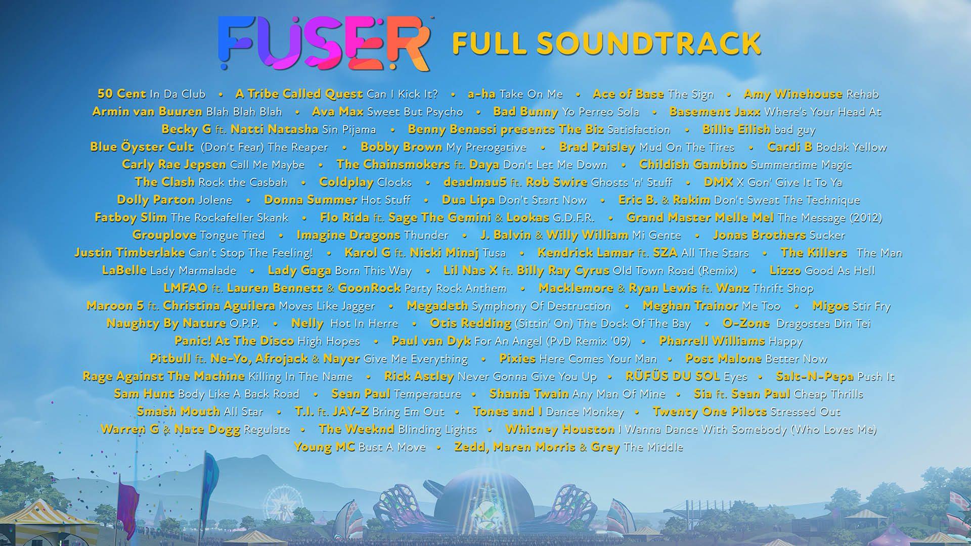 lista de canciones fuser