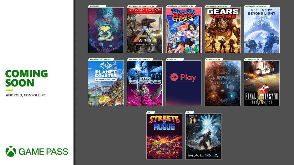 Anunciados los nuevos juegos de Xbox Game Pass para noviembre