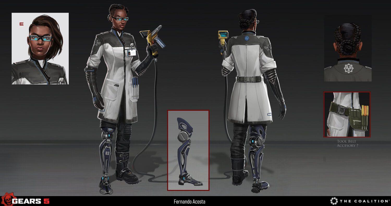 """Conoce a Hana Cole, la hija de Cole Train que llegará en el DLC """"Hivebusters"""" de Gears 5"""