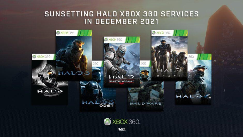 Los servidores de Halo en Xbox 360 se desconectarán en diciembre de 2021
