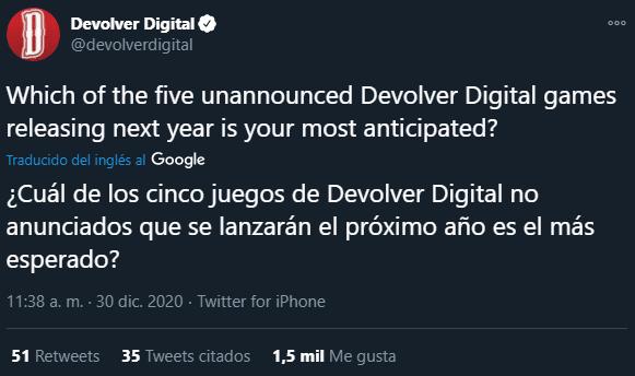 Tweet Devolver Digital