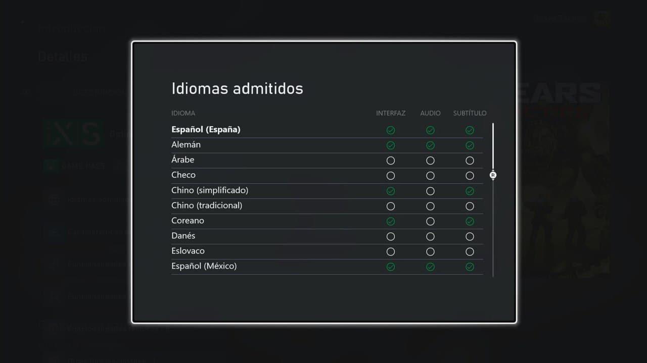 La tienda de Xbox ya marca los idiomas y voces disponibles de los juegos