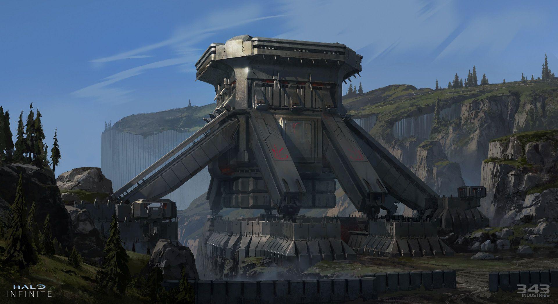 Un vistazo a las fortalezas de los Desterrados en Halo Infinite