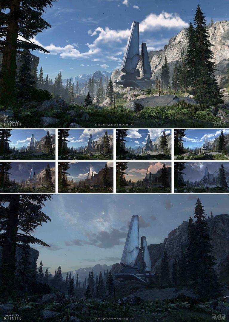 343 Industries muestra como es el ciclo de día y noche en Halo Infinite - 343 Industries ha mostrado nueva información sobre Halo Infinite, incluyendo como se ve el título haciendo uso de ciclos de día y noche.