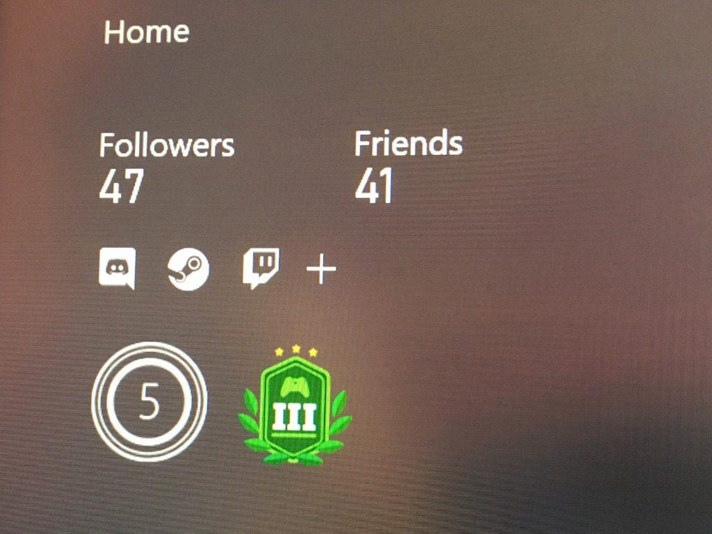 Cuentas sociales Xbox