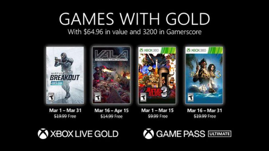 Vota: ¿Qué os parecen los Games With Gold de marzo para Xbox?
