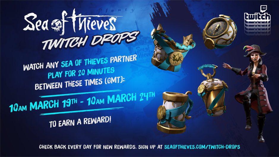Consigue nuevas recompensas para Sea of Thieves a través de Twitch